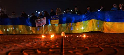 Луганчане приняли участие во всеукраинском телемосте в поддержку Евромайдана